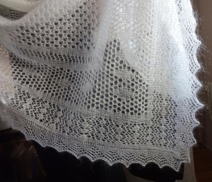 Вязали платки из козьего пуха