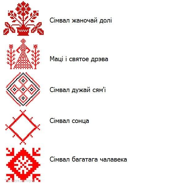 Вышиванка белорусская схема вышивки