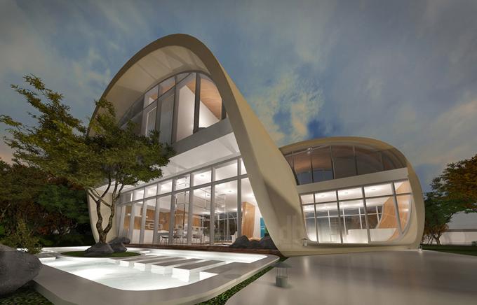 оригинальный архитектурный проект The Moebius House 5 (680x436, 226Kb)