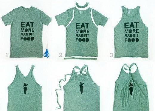 Как сделать из старой футболки модную своими руками