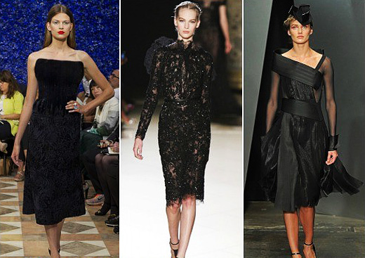 Черное платье фасон бархат