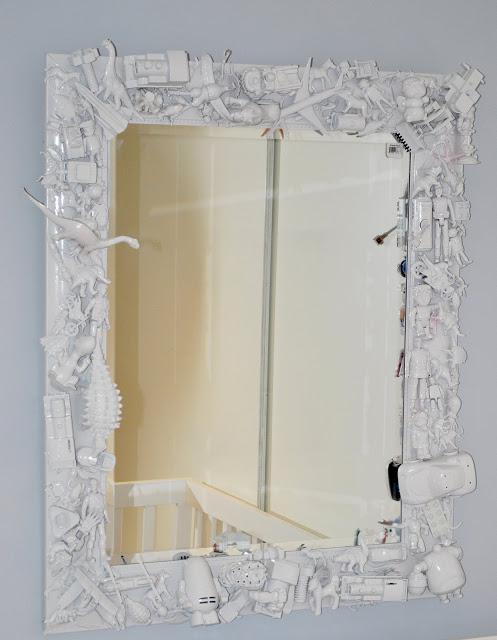 Рамку для большого зеркала своими руками