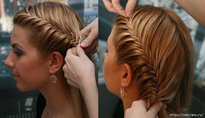 Прически на длинные волосы с косичками своими