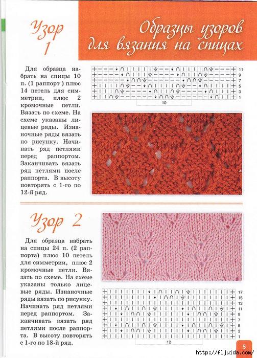 Журналы со схемами вязания спицами