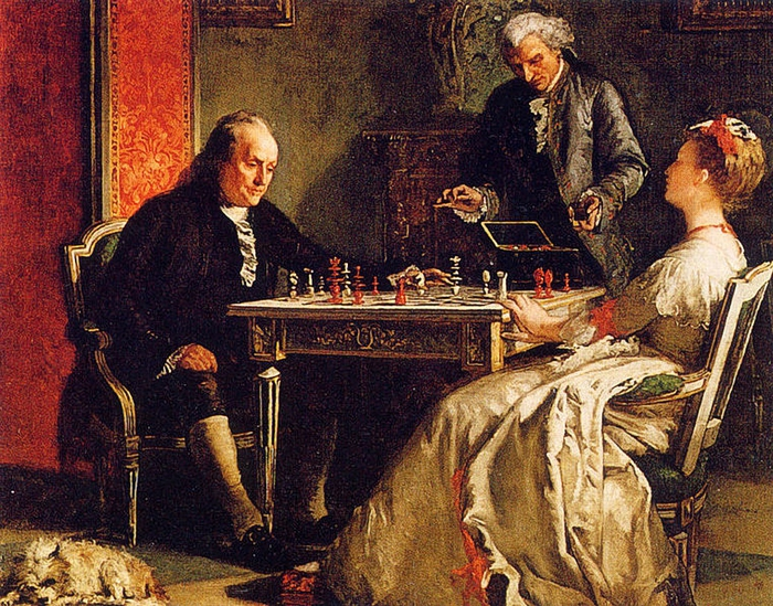 benjamin_franklin_playing_chess (700x549, 421Kb)