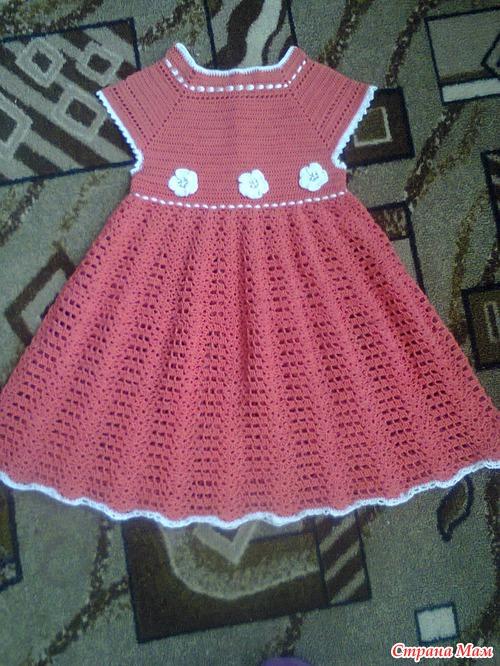 Вязание платья детей крючок страна мам