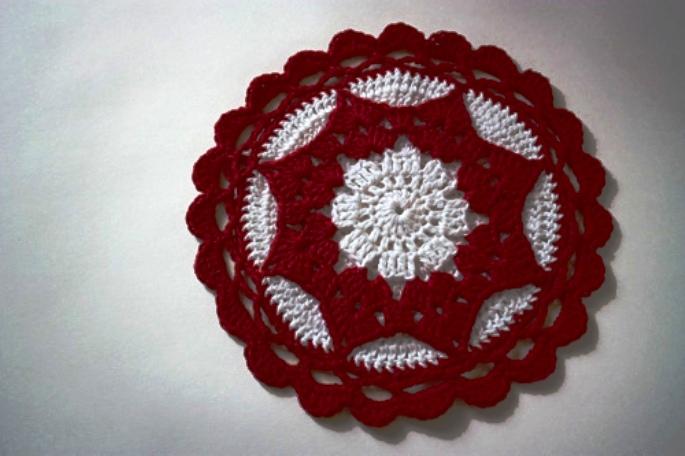 钩针:美丽的锅垫 - maomao - 我随心动