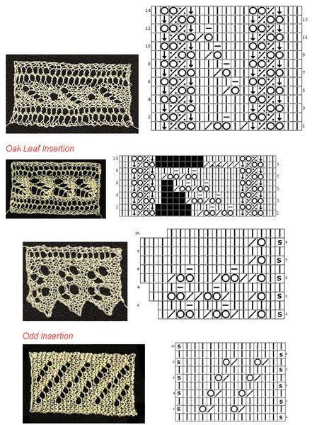 Схемы вязания и фото узоров спицами.  Для тех, кто любит экспериментировать и создавать что-то новое...