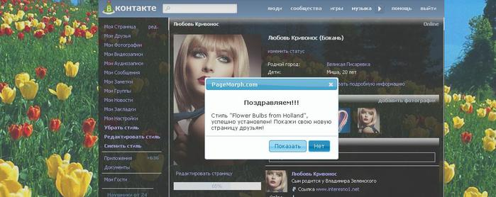 Как установить темы Вконтакте и в Одноклассники (цитата)