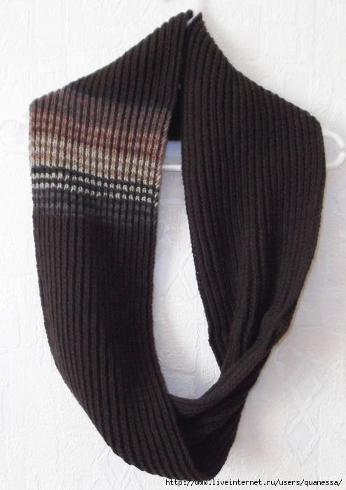 шарф развернутый для днева (494x700, 178Kb)
