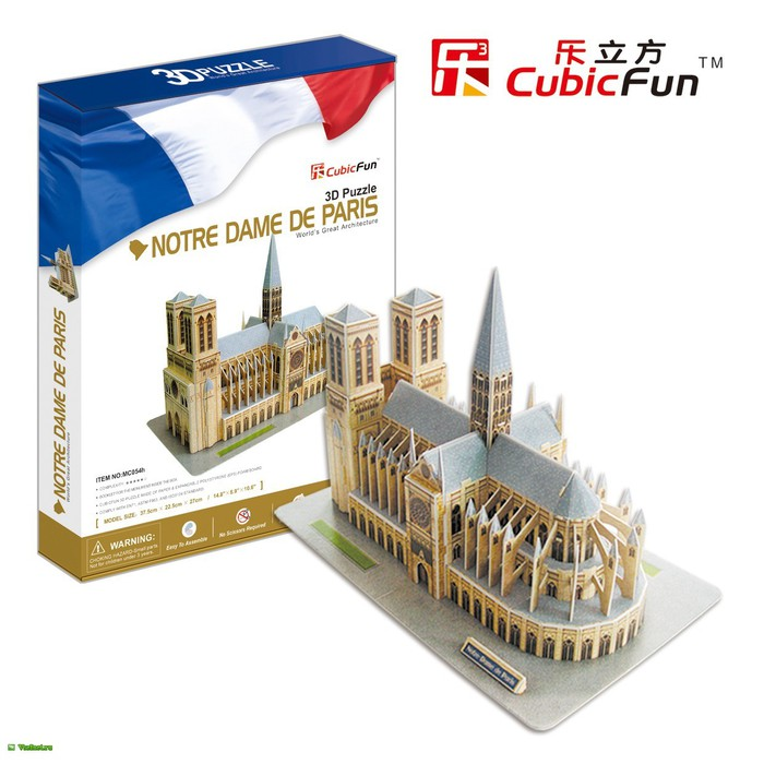 3D Puzzle- With Wooden Base- Notre Dame de Paris (700x700, 88Kb)