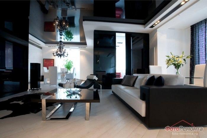 черно-белый дизайн квартиры фото