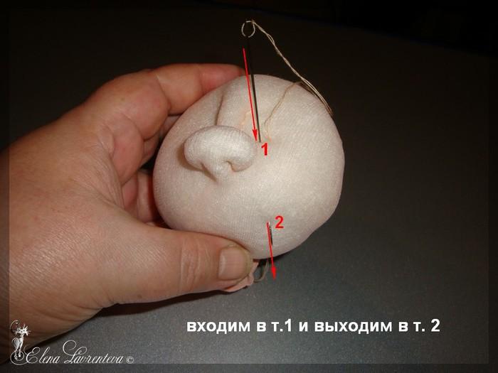 Как сделать личико для куклы из капрона