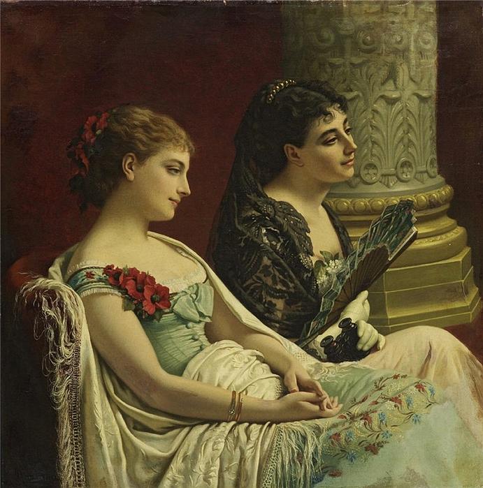 Cesare MARIANI (1836-1901) In the Box (691x700, 376Kb)