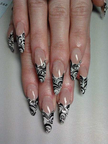 Дизайн ногтей аквариум