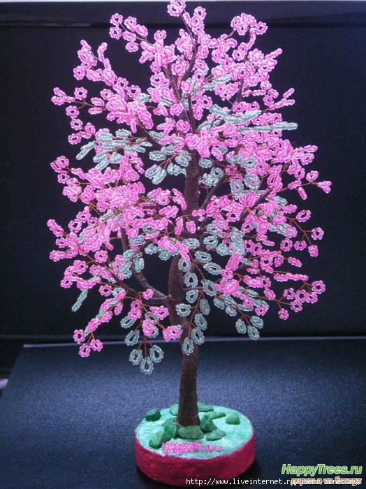Дерево счастья бисером своими руками