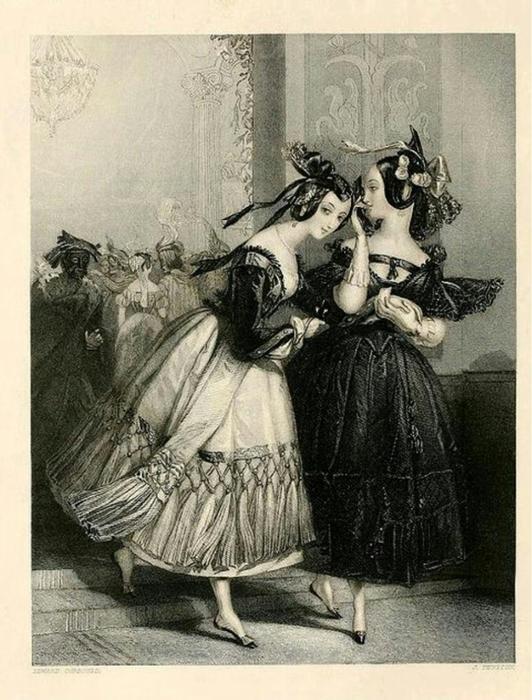 Романтические женские образы на гравюрах и литографиях 19 века.