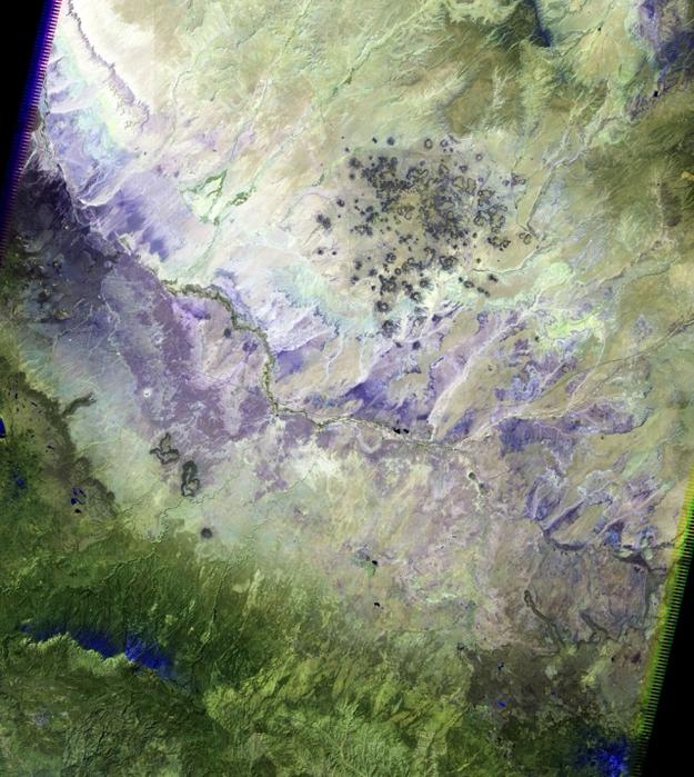 Цветная пустыня, штат Аризона. (625x700, 392Kb)