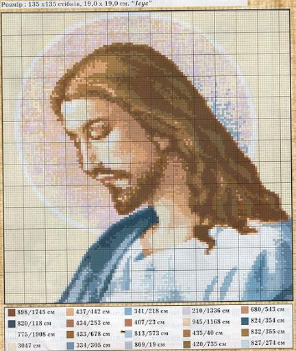 Вышивка крестом схемы крест католический