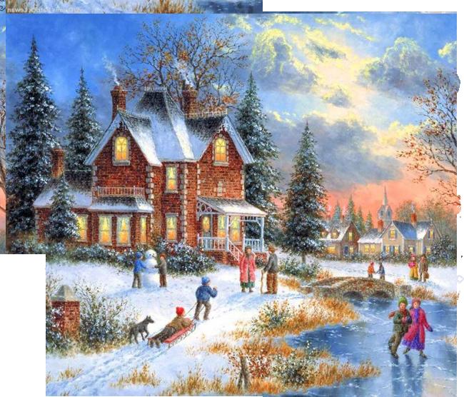 Есенин поет зима