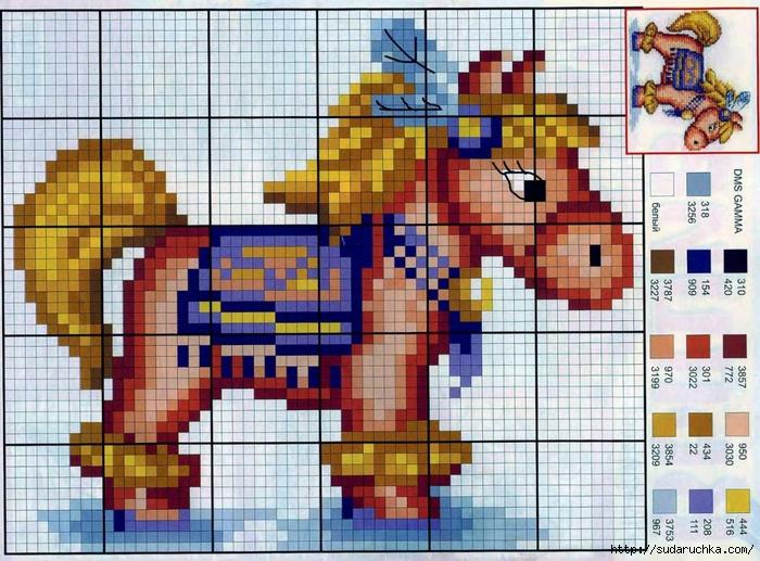 Дорогие вышивальщицы, сегодня мы предлагаем вам небольшую подборку схемок для вышивки лошадей.