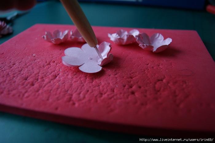 Цветы своими руками мастер класс для скрапбукинга