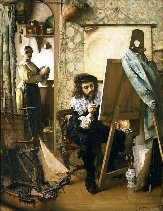 Artist in his Studio, Eduard Charlemont. Austrian (1848�1906) (540x700, 169Kb)