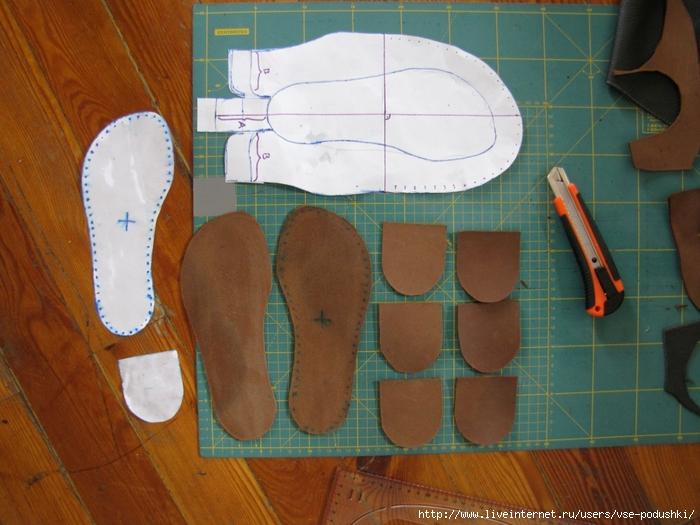Как сшить обувь видео