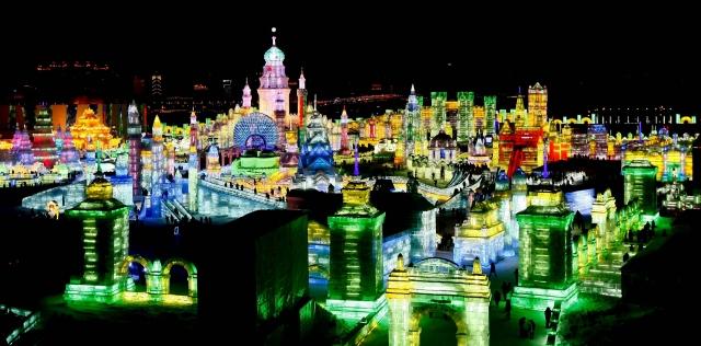 фестиваль ледяных скульптур харбина 5 (640x316, 181Kb)