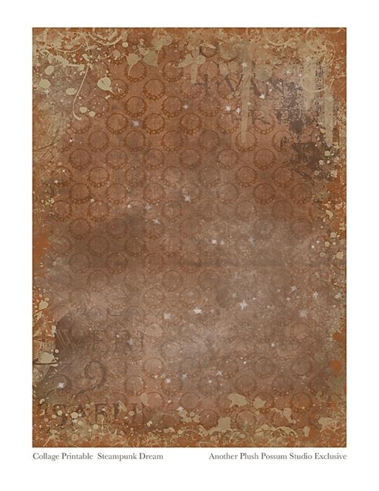 Collage-Printable--Steampunk Dream--96px-Plush-Possum-Studio (540x700, 246Kb)