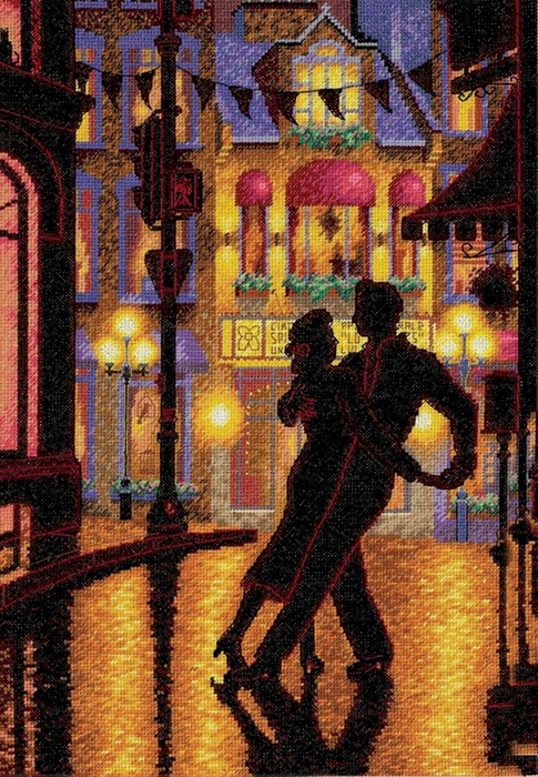 Denis Nolet 1964 - Canadian Figurative painter - Night Tango in Paris (485x700, 367Kb)
