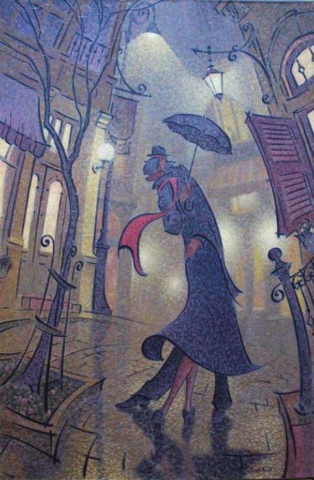 Denis Nolet 1964 - Canadian Figurative painter - Night Tango in Paris (1) (458x699, 61Kb)