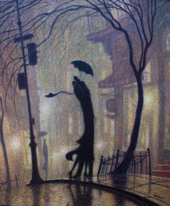 Denis Nolet 1964 - Canadian Figurative painter - Night Tango in Paris (7) (578x700, 99Kb)