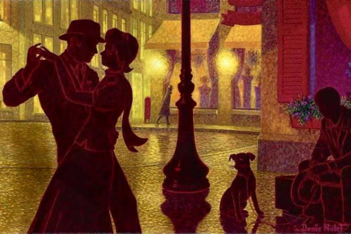 Denis Nolet 1964 - Canadian Figurative painter - Night Tango in Paris (13) (700x467, 51Kb)