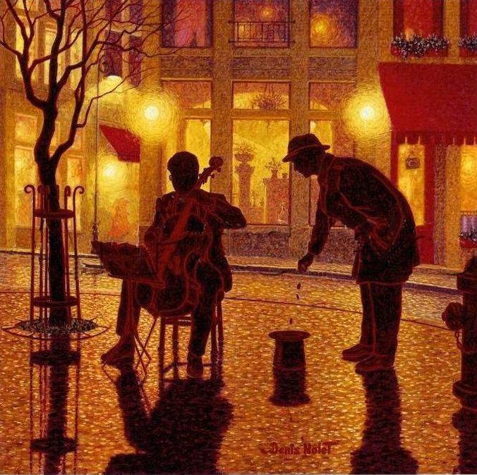 Denis Nolet 1964 - Canadian Figurative painter - Night Tango in Paris (10) (676x674, 339Kb)