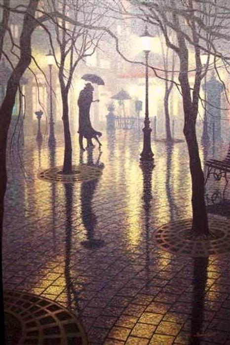 Denis Nolet 1964 - Canadian Figurative painter - Night Tango in Paris (2) (466x699, 63Kb)