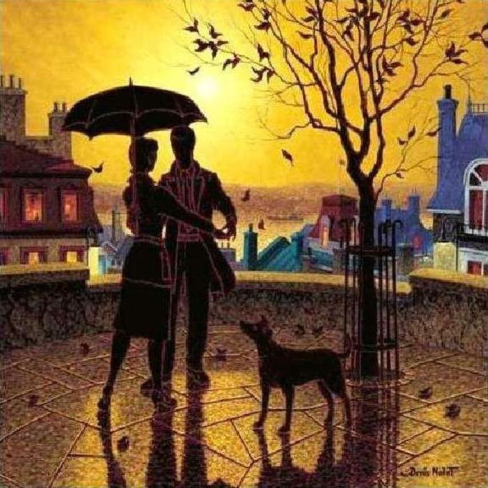 Denis Nolet 1964 - Canadian Figurative painter - Night Tango in Paris (20) (700x699, 92Kb)