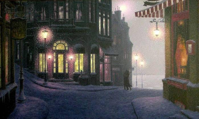 Denis Nolet 1964 - Canadian Figurative painter - Night Tango in Paris (27) (700x417, 54Kb)