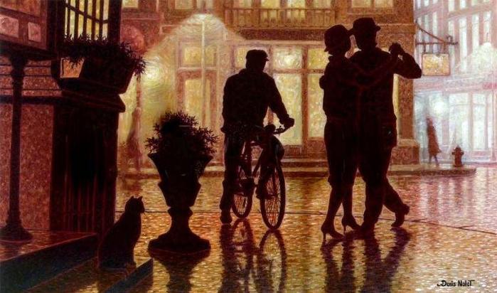 Denis Nolet 1964 - Canadian Figurative painter - Night Tango in Paris (26) (700x412, 236Kb)