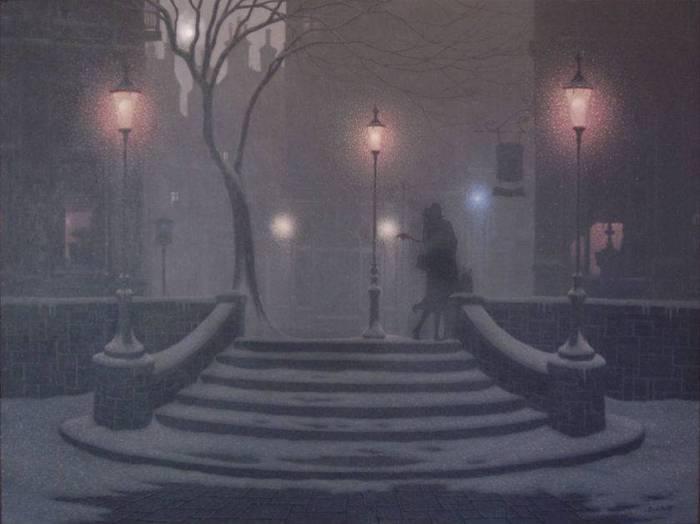 Denis Nolet 1964 - Canadian Figurative painter - Night Tango in Paris (30) (700x524, 30Kb)
