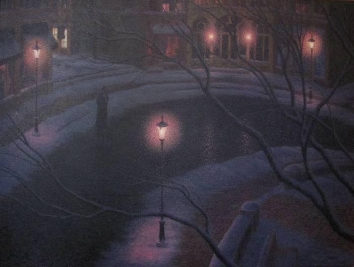 Denis Nolet 1964 - Canadian Figurative painter - Night Tango in Paris (31) (700x528, 32Kb)
