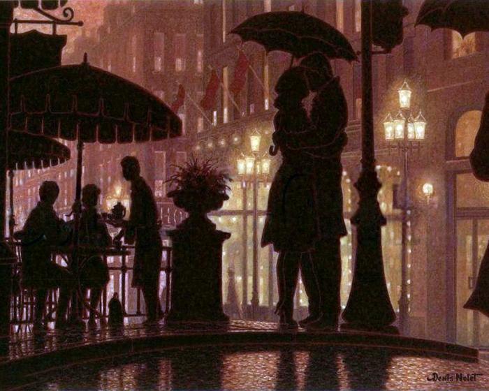 Denis Nolet 1964 - Canadian Figurative painter - Night Tango in Paris (39) (700x560, 315Kb)