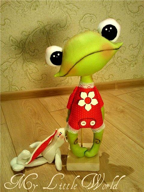 Мягкие игрушка лягушка своими руками