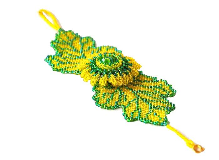 Набор «Подсолнухи» / Колье, бусы, ожерелья / Biserok. org