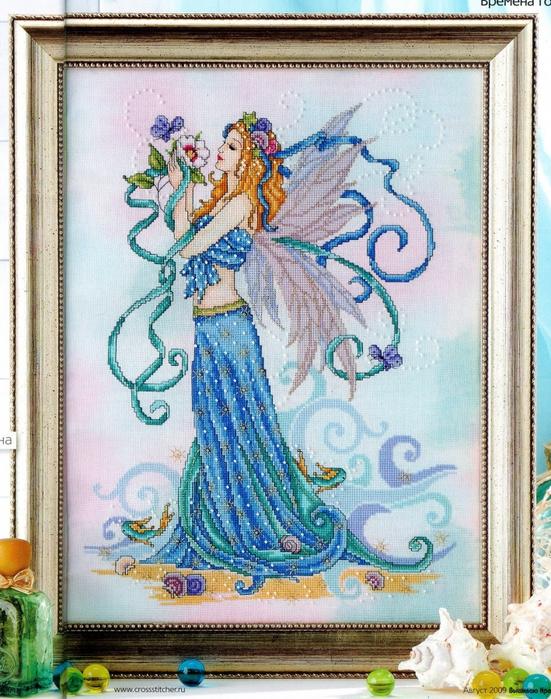 Схема вышивки фея уюта