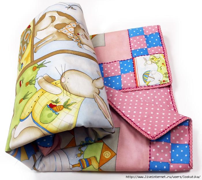 Нарядное лоскутное одеяло для