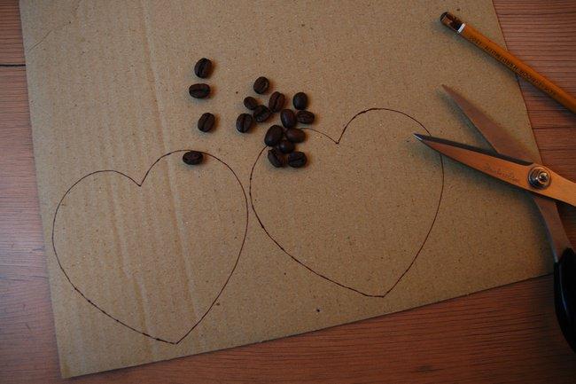 Кофейное дерево.магнит и сердечко.Мастер класс