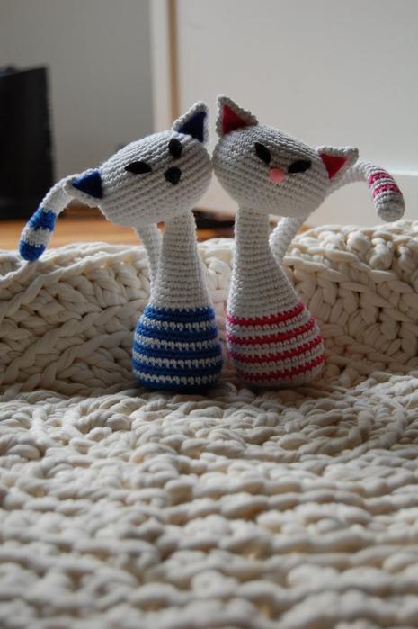 Коты вязаные,идеи и схемы