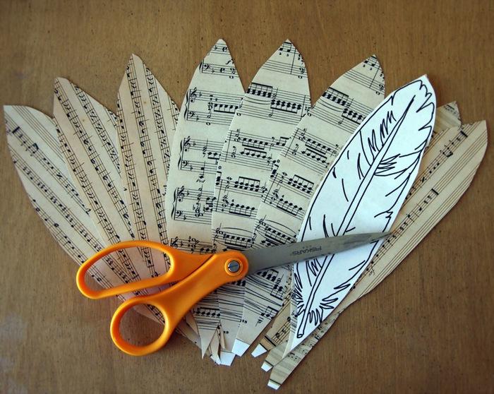 Как сделать из бумаги перо на шляпу