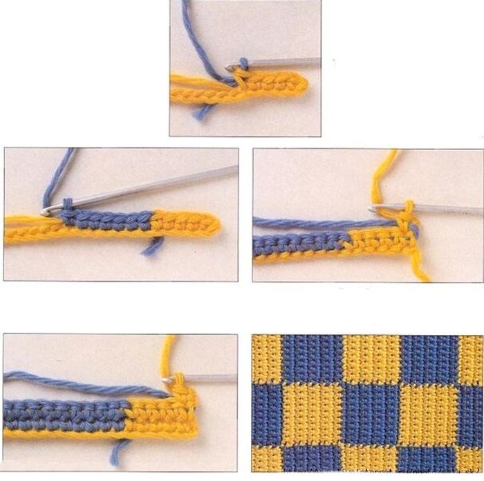 Переход цвета в вязании спицами схема 81